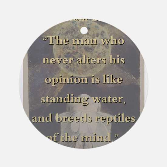 The Man Who Never Alters His Opinion - W Blake Rou