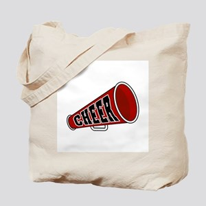 Red Cheer Megaphone Tote Bag