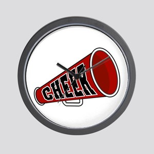 Red Cheer Megaphone Wall Clock
