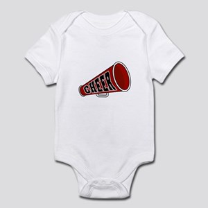 Red Cheer Megaphone Infant Bodysuit