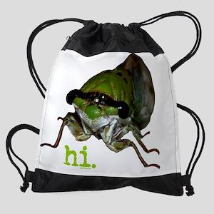 cicada Drawstring Bag