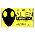 Resident Alien Rectangle Sticker
