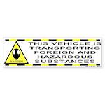 Alien Hazard Bumper Sticker
