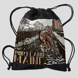 lobster attach Drawstring Bag