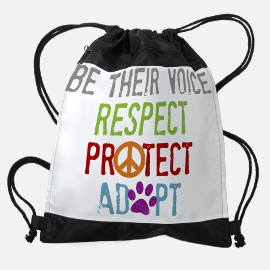 Be Their Voice Drawstring Bag