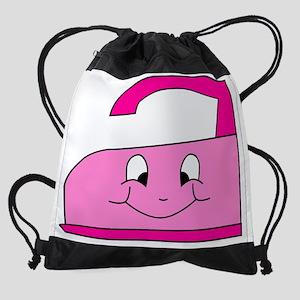 Hot Pink Iron Drawstring Bag