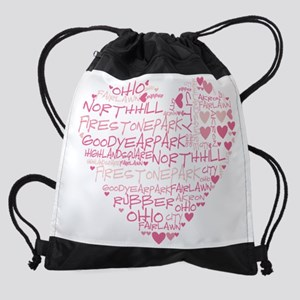 HeartWordle Drawstring Bag
