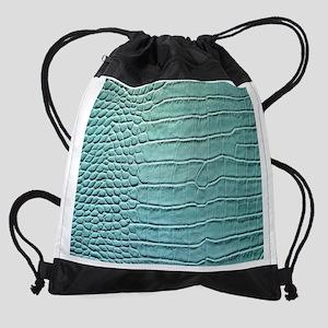 Crocodile skin pattern Drawstring Bag