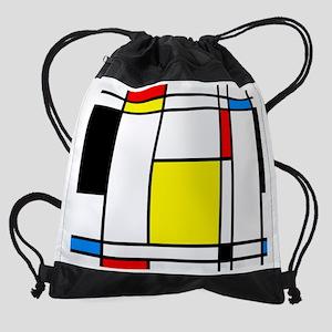 Mondrian Lines Drawstring Bag