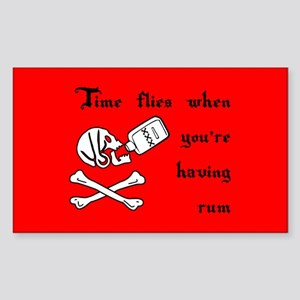 Time Flies When You're Having Rum Sticker