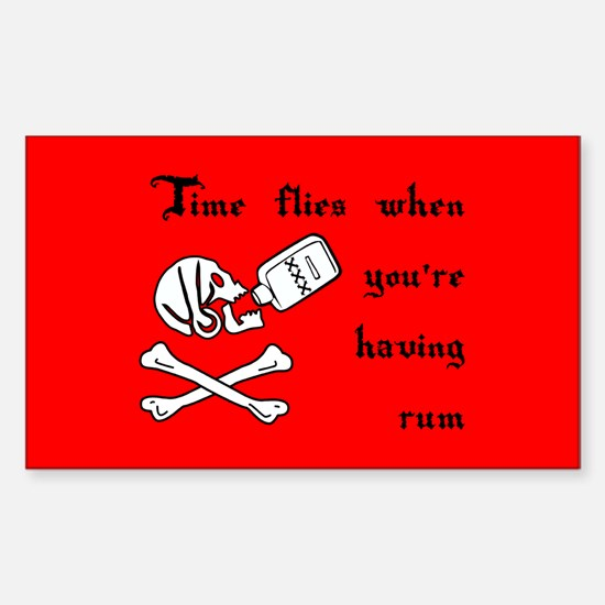 Time Flies When You're Having Rum Decal