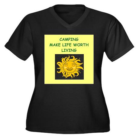 camping Plus Size T-Shirt