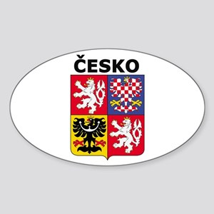 Česko Oval Sticker