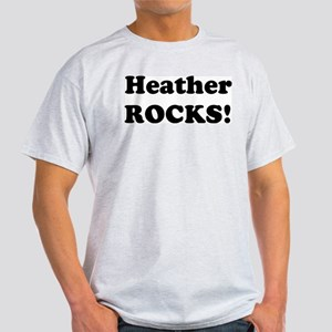 Heather Rocks! Ash Grey T-Shirt