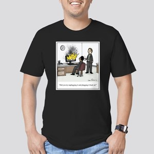 Unplug and Plug Back i Men's Fitted T-Shirt (dark)