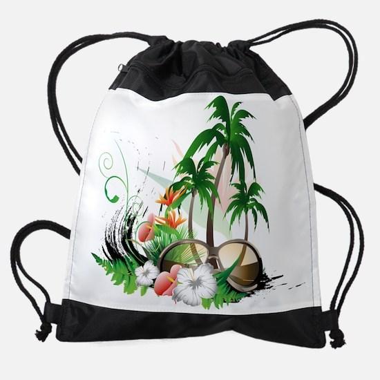 Palm Trees Drawstring Bag