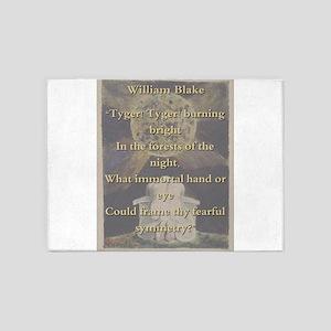 Tyger Tyger Burning Bright - W Blake 5'x7'Area Rug