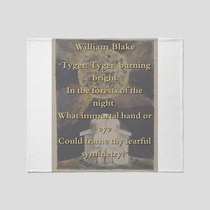 Tyger Tyger Burning Bright - W Blake Throw Blanket
