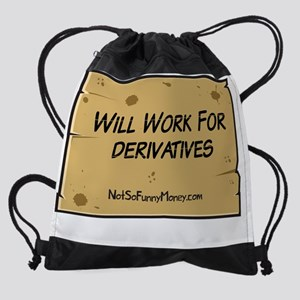 willWorkForDerivatives.png Drawstring Bag
