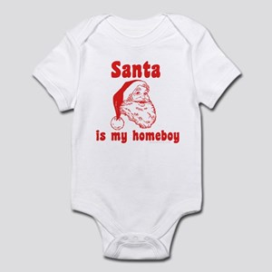 Santa is my homeboy Infant Bodysuit