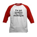 I'm not naughty Kids Baseball Jersey