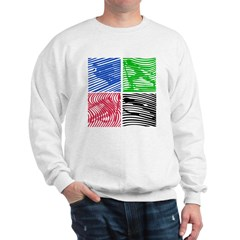 Color Skiing Combo Sweatshirt