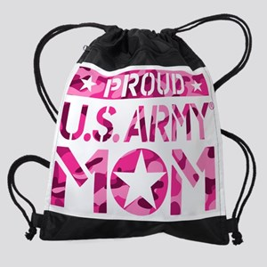 PROUD U.S. ARMY MOM Drawstring Bag