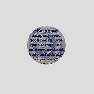 Keep Good Company - Alcott Mini Button