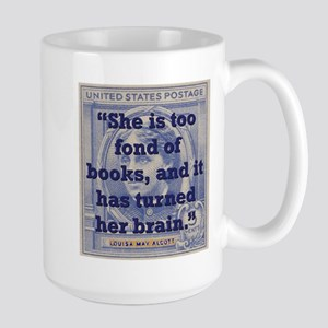 She Is Too Fond Of Books - Alcott Mugs