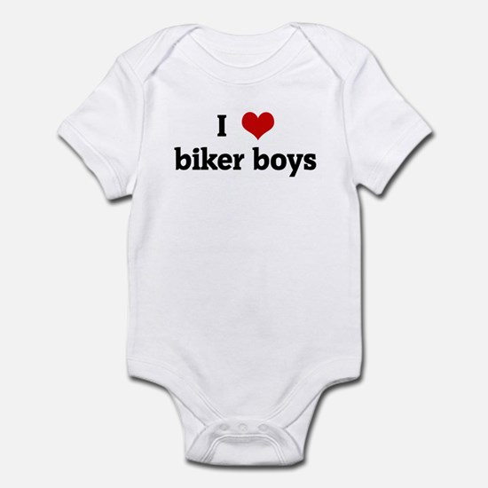 I Love biker boys Infant Bodysuit