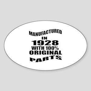 Manufactured in 1928 Sticker (Oval)