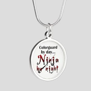 Colorguard Ninja Silver Round Necklace
