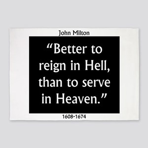 Better To Reign In Hell - John Milton 5'x7'Area Ru