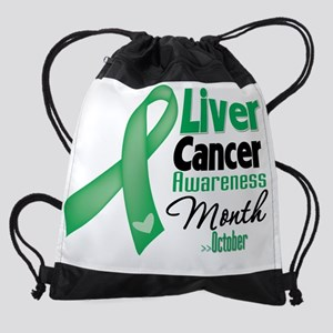 Liver Cancer Awareness Month Drawstring Bag