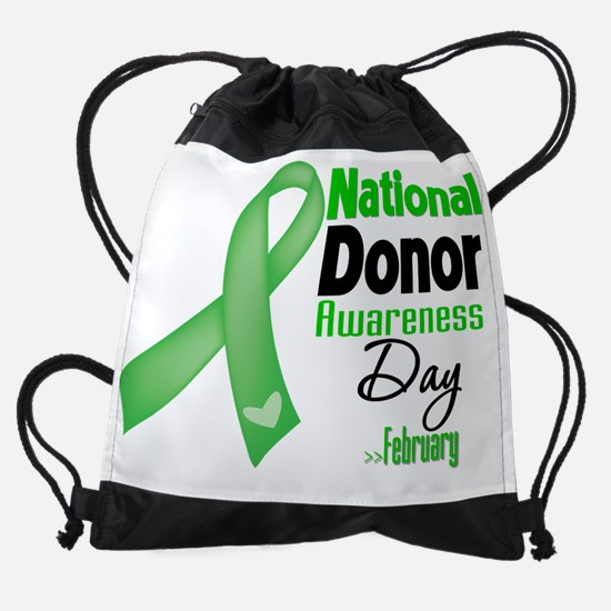 National Donor Awareness Day.png Drawstring Bag
