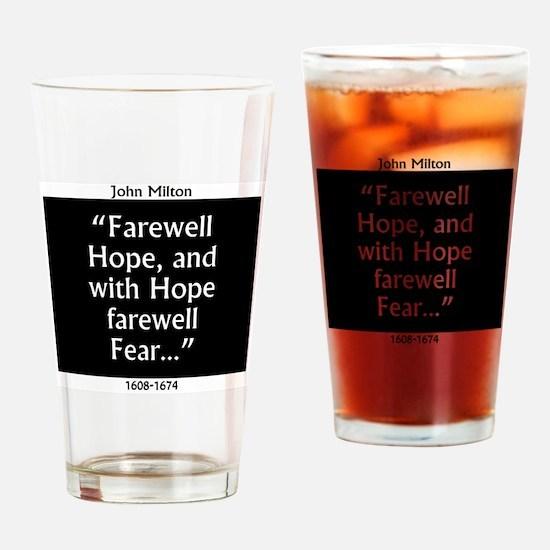Farewell Hope - Milton Drinking Glass