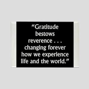 Gratitude Bestows Reverence - Milton Magnets