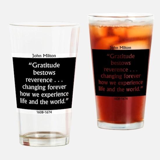Gratitude Bestows Reverence - Milton Drinking Glas