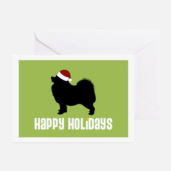 "Samoyed ""Santa Hat"" Greeting Cards (Pk of 10)"