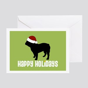 "Fr Bulldog ""Santa Hat"" Greeting Cards (Package of"