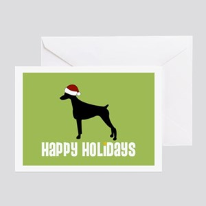 "Doberman ""Santa Hat"" Greeting Cards (Pk of 10)"