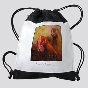Leo and Coco Drawstring Bag