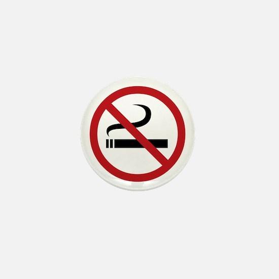 No Smoking Sign Mini Button