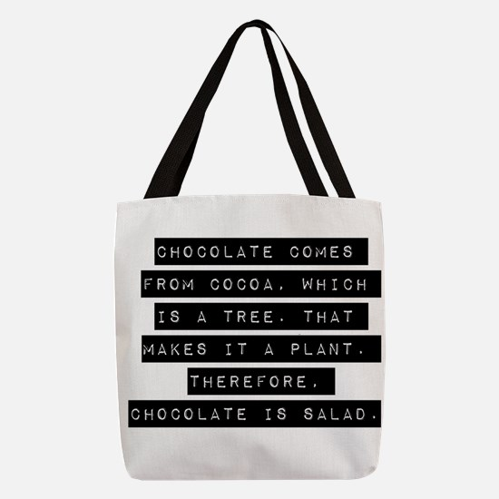 Chocolate Comes From Cocoa Polyester Tote Bag