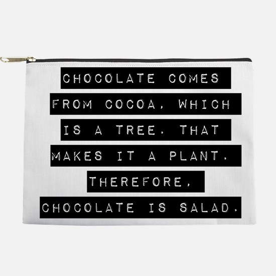 Chocolate Comes From Cocoa Makeup Pouch