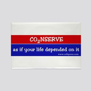 Conserve as if your life... Rectangle Magnet
