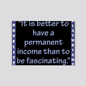It Is Better To Have A Permanent Income - Wilde Ma