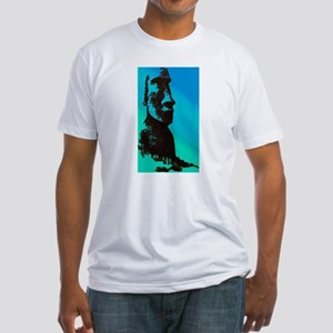 Easter Island Head Fitted T-Shirt