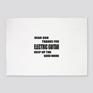 Dear God Thanks For electric Guitar 5'x7'Area Rug