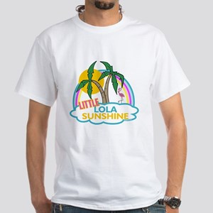 Island Girl Lola Personalized White T-Shirt